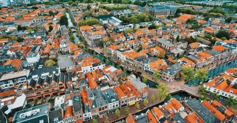 Delft stad in Nederland, Europa